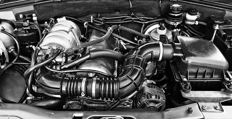 Nachaufnahme eines Automotors